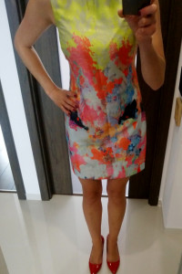 Warehouse mini sukienka kolorowa boho lato piękna r 36 wesele