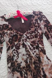 Modna bluzka panterka dekolt XXXL
