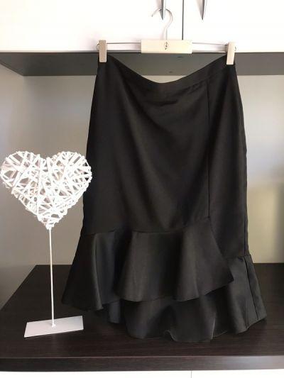 Spódnice czarna spódniczka wysoki stan midi