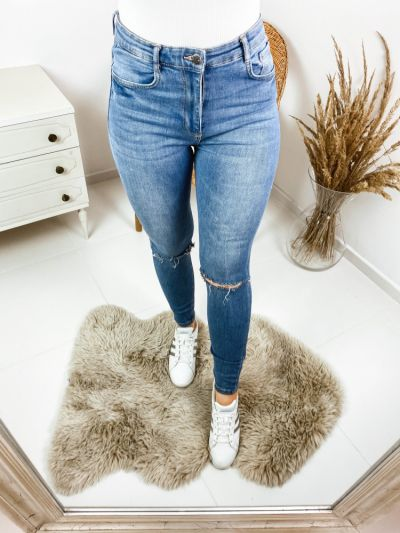 Spodnie Spodnie wysoki stan S