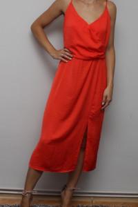 pomaranczowa maxi sukienka...
