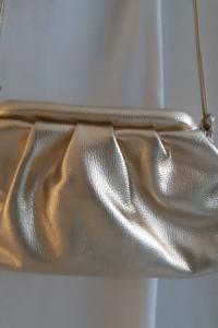 Złota marszczona torebka jak Bottega Veneta NOWA