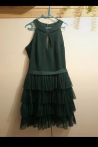 Krótka zielona sukienka