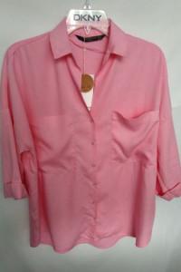 Koszula malinowa Zara XS