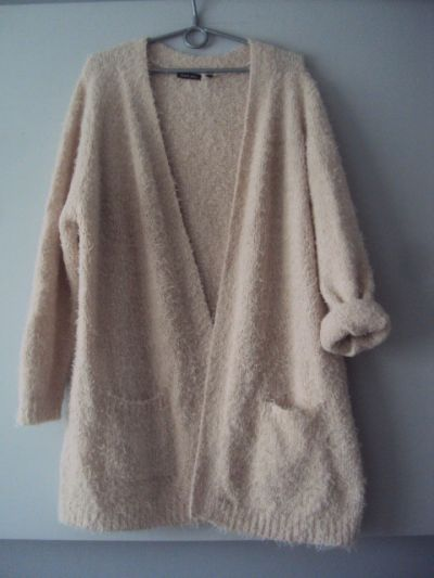 Swetry puchaty kardigan