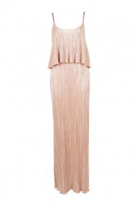sukienka maxi z falbanka na cienkich ramiączkach XS