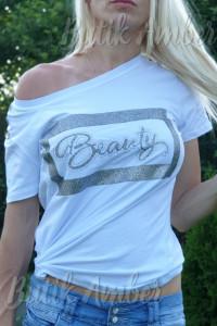 Bluzka beauty uni s m nowa sklep biała