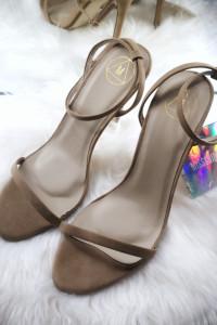 Missguided Szpilki damskie beżowe sandałki 40