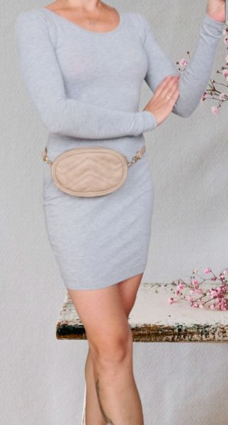Suknie i sukienki Amisu sukienka szara
