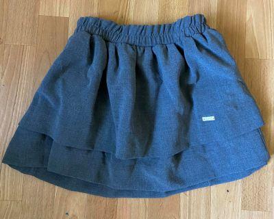 Spódnice mini spodniczka z falbanka szara