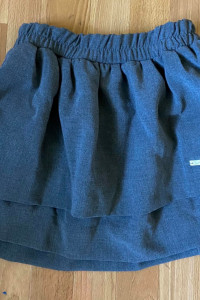 mini spodniczka z falbanka szara...