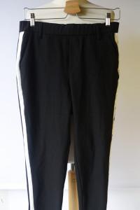 Spodnie Czarne Lampasy Zara S 36 Dresowe Eleganckie...