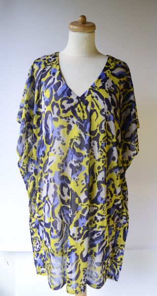 Bluzki Bluzka Tunika H&M Panterka XL 42 Cętki Kolorowa Wzory