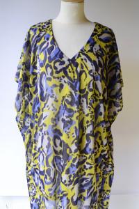 Bluzka Tunika H&M Panterka XL 42 Cętki Kolorowa Wzory