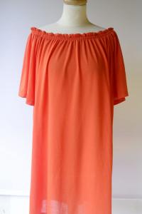 Sukienka Pomarańczowa H&M Odkryte Plecy Hiszpanka M 38...