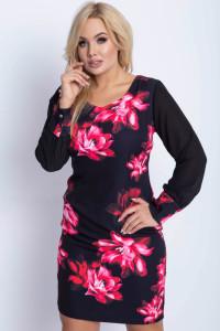Sukienka kwiaty szyfonowe rakwy 42 44 46 48 dwa wzory