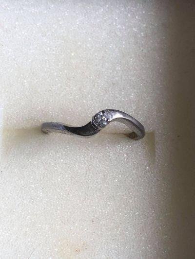 Pierścionki Śliczny srebrny pierścionek z cyrkonią 925