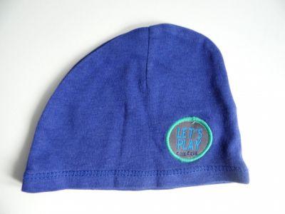Czapki Cienka niebieska czapeczka Smyk dla niemowlaka