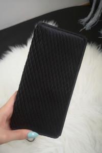 Reserved Torebka damska kopertówka na łańcuszku czarna
