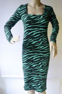 Sukienka Wzory Zeberka Boohoo L 40 Zebra Long Długa...