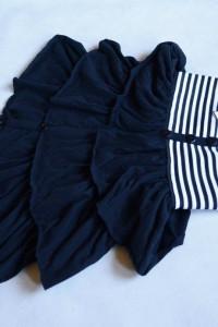 Nowa spódniczka marynarska falbanki czarna w paski S XS...