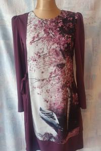 Sukienka Nadruk 3D Rozmiar 38 40