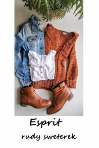 Cynamonowy sweterek Esprit S M