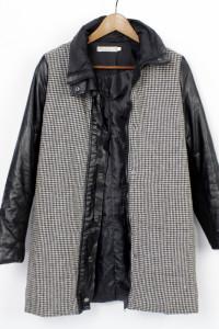 Płaszcz jesionka pepitka 36 S...