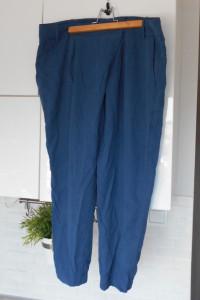 Zara granatowe chinosy spodnie