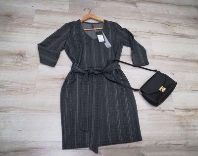 Suknie i sukienki Nowa frmowa sukienka z paskiem do pracy