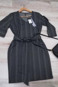 Nowa frmowa sukienka z paskiem do pracy