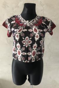 NOWA Bluzka top azteckie wzory krótki rękaw oversize S 36...