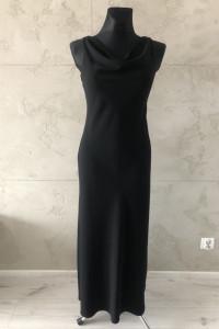 Czarna suknia sylwestrowa wieczorowa długa