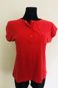 Czerwona bluzka oversize tshirt koszula damska top