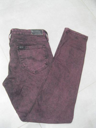 Spodnie spodnie jeans rurki Lee scarlett W27 L31 bordowe