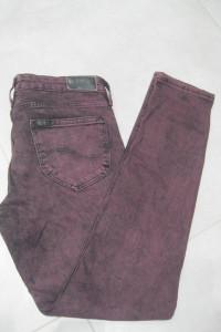 spodnie jeans rurki Lee scarlett W27 L31 bordowe...