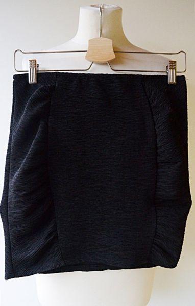 Spódnice Spódniczka H&M Czarna Prążkowana S 36 Mini