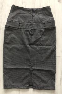 NOWA spódnica wysoki stan ołówek szara 36 S...