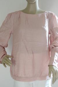 Bluzka Różowa Paseczki Róż S 36 Dranella Paski Elegancka