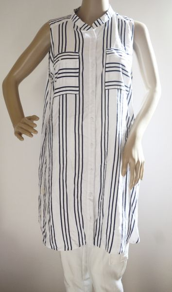 Bluzki Bluzka Koszula Paski Long H&M XL 42 Marynarska Paseczki