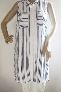 Bluzka Koszula Paski Long H&M XL 42 Marynarska Paseczki