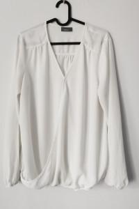 Elegancka biała bluzka lejąca się C&A Yessica stan idealny...