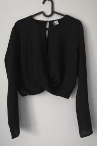 Crop top z długim rękawem H&M XL ale pasuje na S M stan idealny