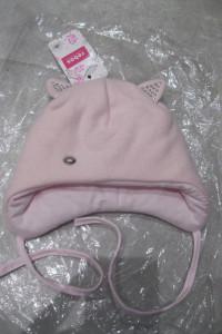 nowa czapka ocieplana Rebos 40 różowa