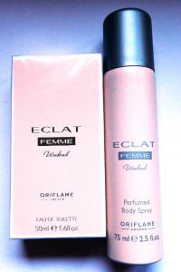 Eclat Femme Weekend perfum deo spray zestaw Oriflame...
