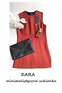 Nowa trapezowa sukienka ZARA minimalistyczna S M basic...