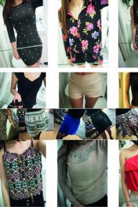 Mix ubrań sukienka kombinezon spódnica bluzka body koronkowe XS...