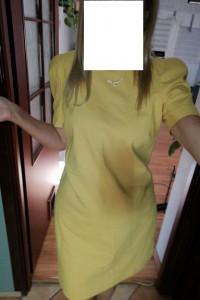 Sukienka Zara zółta
