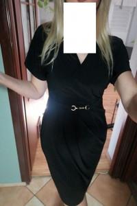 FF Sukienka czarna z ozdobą...