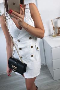 obłędna Biała sukienka M 38 new